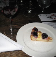 Plum and fresh cherry/mascarpone crostata