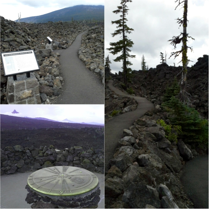 Lava trail and Dee Wright Observatory