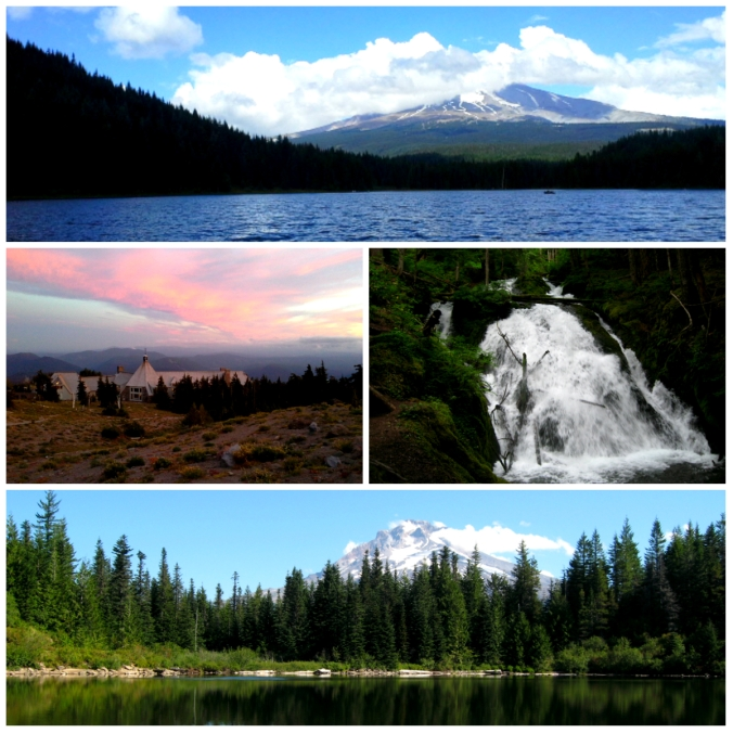 Trillium Lake, Timberline Lodge, Little Zigzag Falls, Mirror Lake