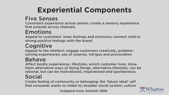 experiential components
