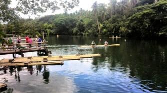 Rafts at Villa Escudero