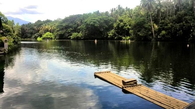 Man-made lake at Villa Escudero