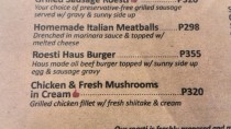 Spatzle menu