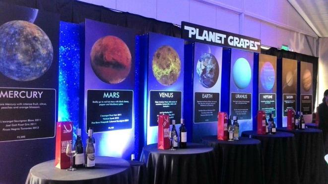 Planet Grapes Trade Show Sets