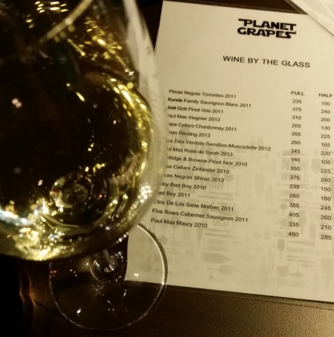 Wines by the Glass at Planet Grapes