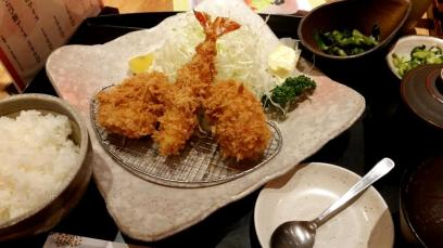 Tempura/Katsu from a restaurant on the 7th floor of Shinjuku station