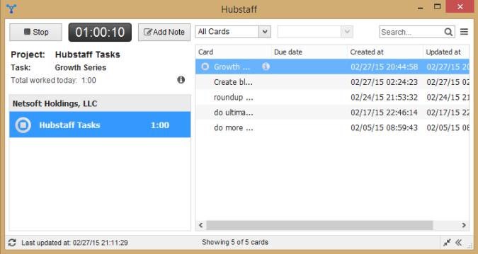 Hubstaff Desktop Timer
