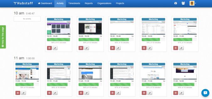 Rachel Go Hubstaff Activity Levels and Screenshots