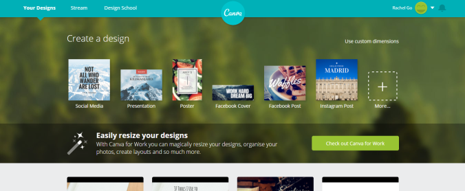 Canva - Content creation tools