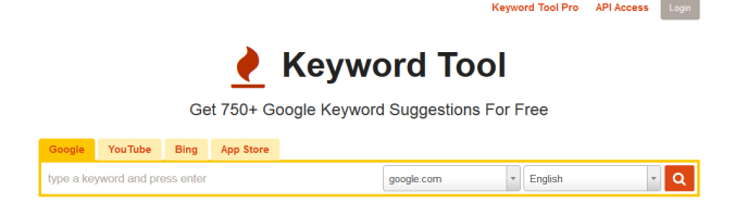 Keyword tool - Content creation tools