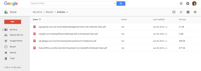 Google Drive | Remote Work Tools Checklist