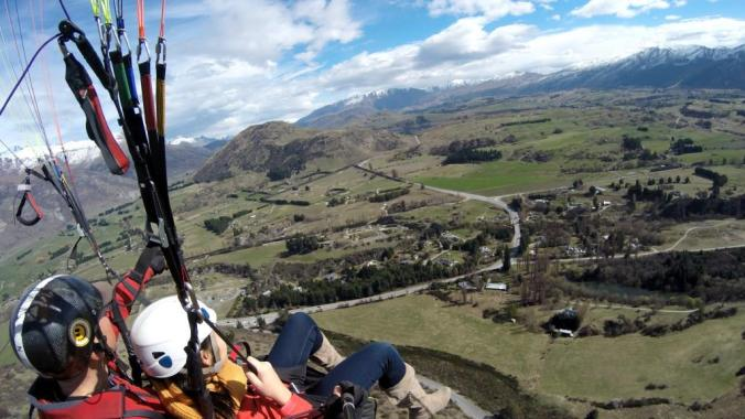 Paragliding above Queenstown