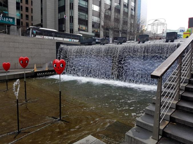Waterfall in Cheonggyecheon